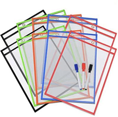 Dry erase paper pockets