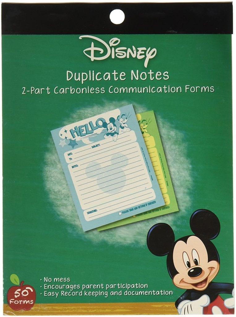 Eureka Mickey Hello Duplicate Notes Large