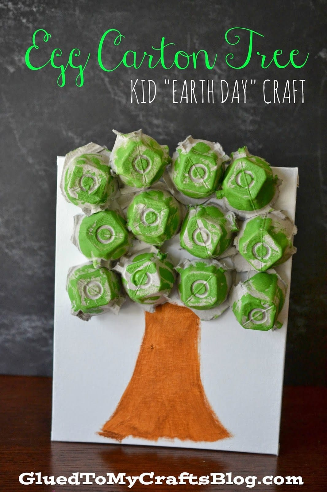 recycled egg carton tree craft
