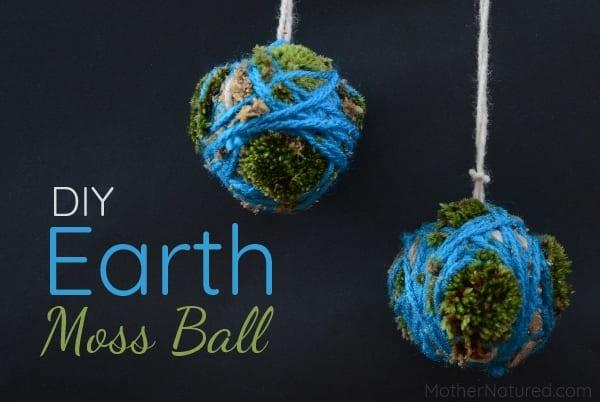DIY Earth Day Moss Ball