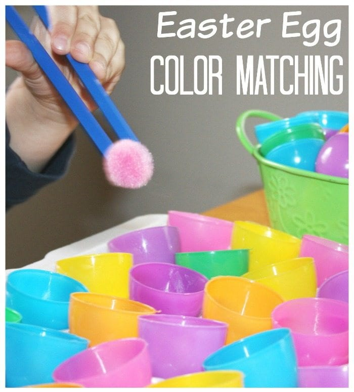 Plastic eggs for sorting and colors