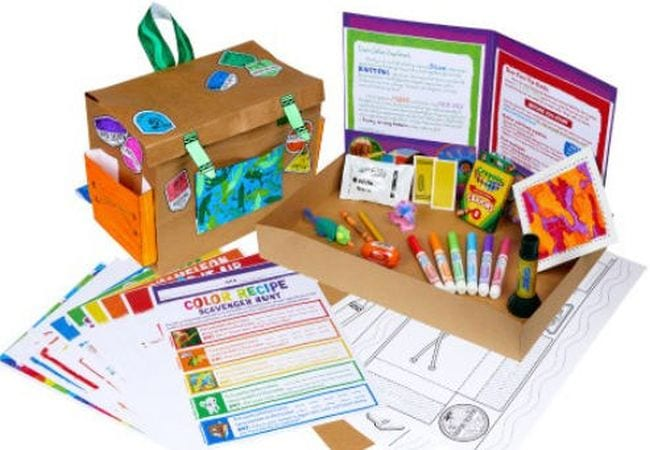 Selection of items from Crayola Experience Home Adventure box