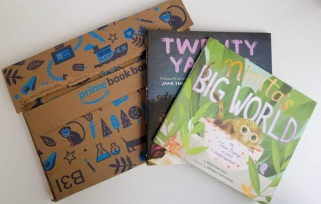 Amazon Book Box with two picture books (Educational Subscription Boxes)