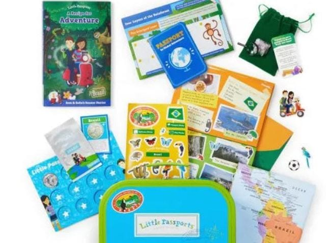 Selection of items from Little Passports World Edition box (Educational Subscription Boxes)