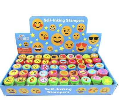Set of emojis stamps