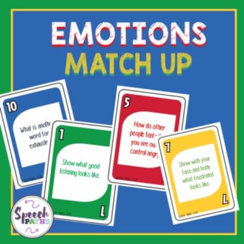 emotions match up game cards