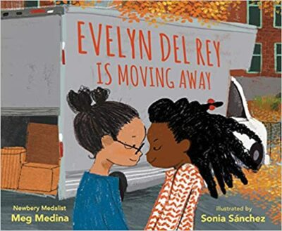 Book cover for Evelyn Del Rey is Moving Away as an example of childrens books about friendship