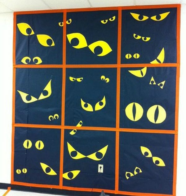Spooky Eyes Bulletin Board