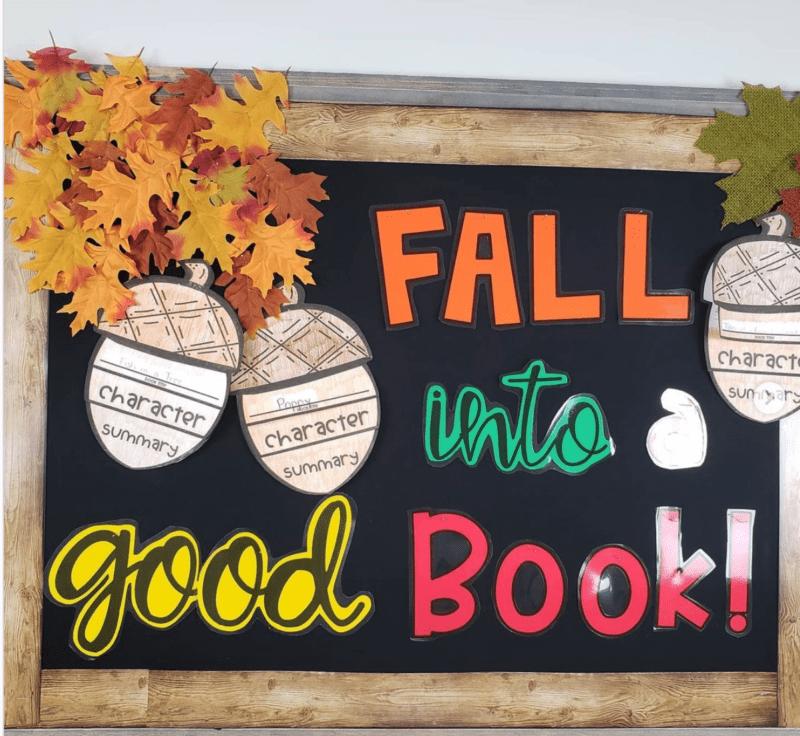 Fall Into a Good Book fall bulletin boards