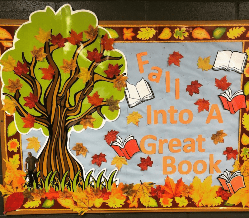 Fall Into a Great Book fall bulletin boards