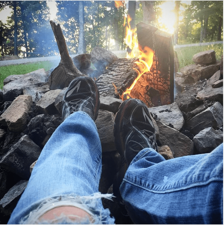 Teacher summer vacation campfire
