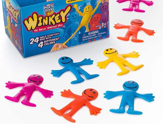 Colorful stretchy fidget toys shaped like stick figures