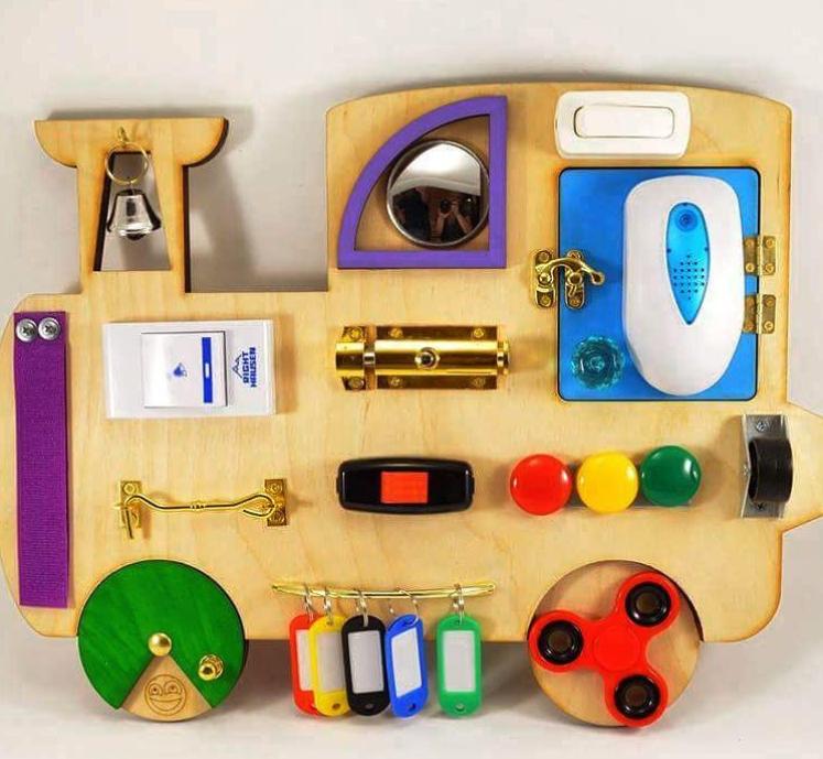 DIY Sensory Board train