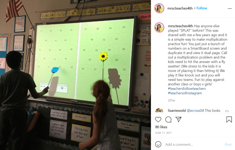Still of fifth grade assessment ideas move with splat from Instagram