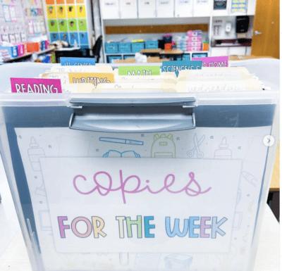 Teacher file folder box