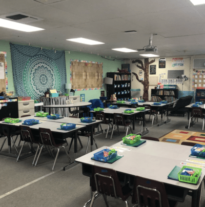 Finished classroom after photo