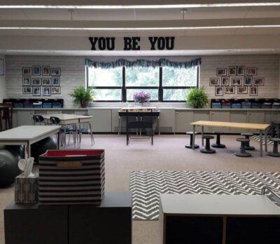 Finished classroom setup