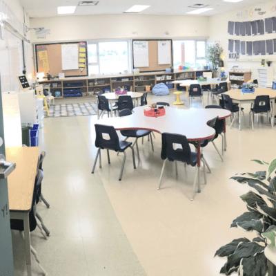 Finished classroom setup after photo