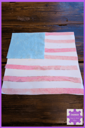 Make an American Flag using water science