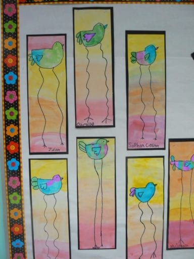 first-grade-art-17-1-384x512 Kindergarten And First Grade Art Projects on using shapes, end school, for kindergarten, fall scarecrow, one day, cutest beginning year, eric carle,