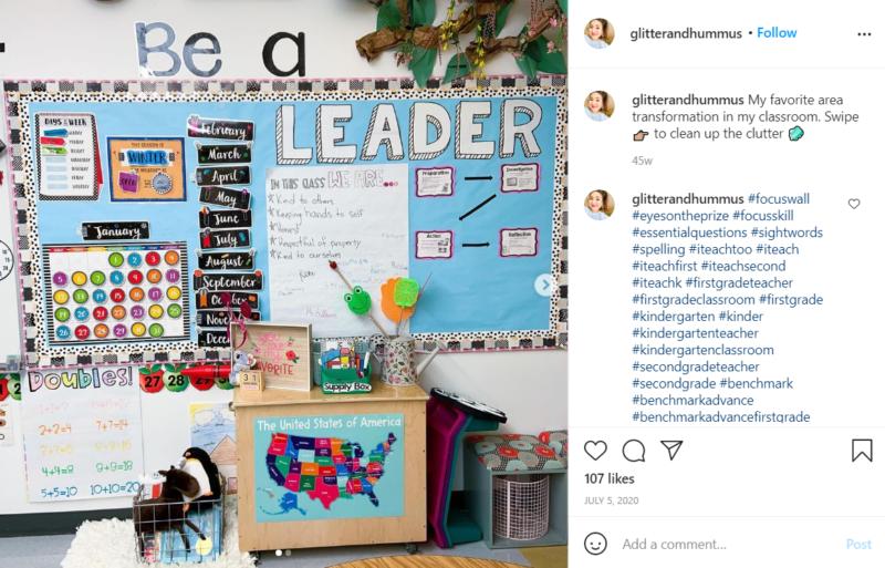 Still of first grade classroom ideas encouraging leadership from Instagram