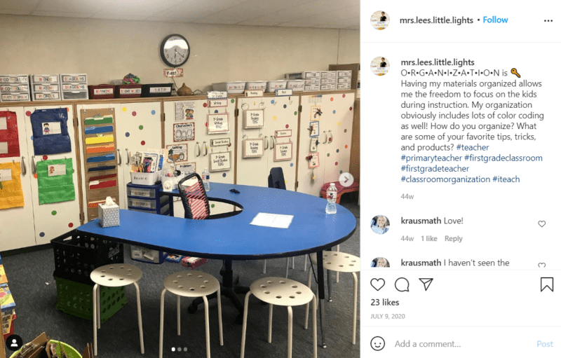 Still of first grade classroom ideas for organizing everything from Instagram