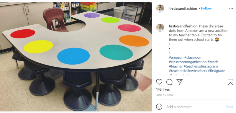 Still of first grade classroom ideas to connect the dots from Instagram