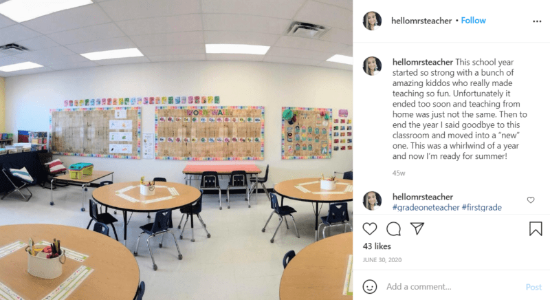 Still of first grade classroom ideas to keep it bright and spacious from Instagram
