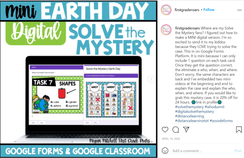 Still of Earth Day assessment idea for first grade students