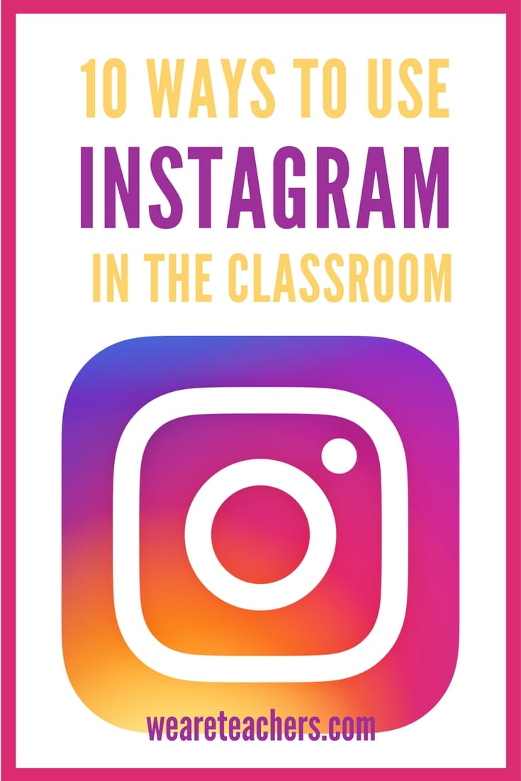 Instagram in the classroom pin it