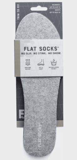 Flat Socks No Show Cushioned Socks in grey