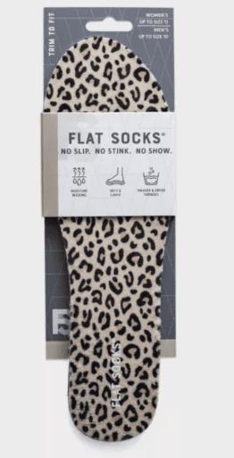 Flat Socks No Show Cushioned Socks in Leopard