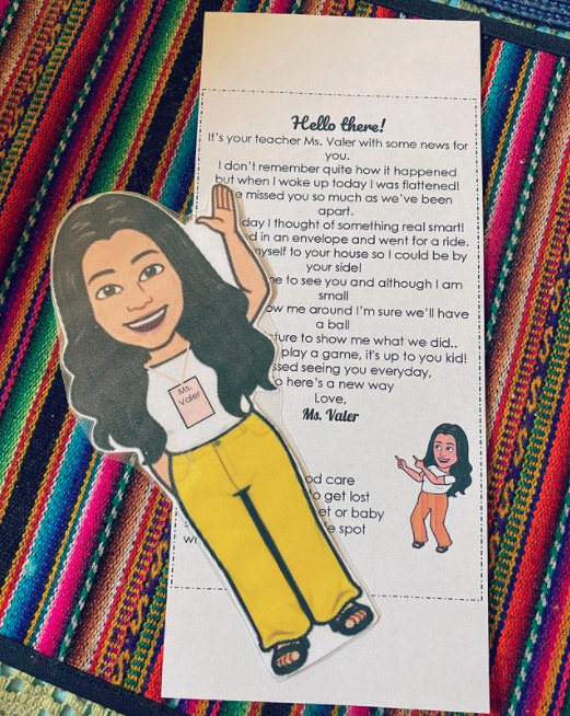Letter that teacher sends to students with her Flat Stanley