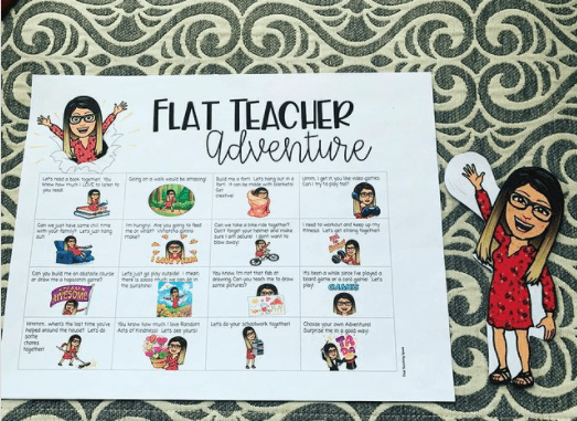 Flat teacher adventure grid for students