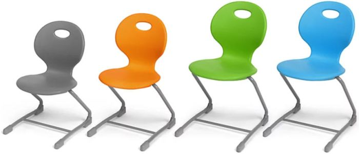 Flex-Space Ergo Bounce Cantilever Chairs in several colors and heights