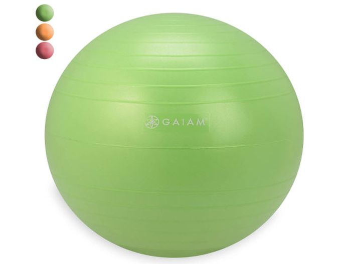 Gaiam green rubber ball with yellow and red options (Flexible Seating Options)