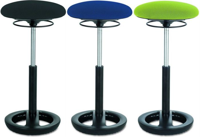 Twixt adjustable stools in black, blue, and green (Flexible Seating Options)