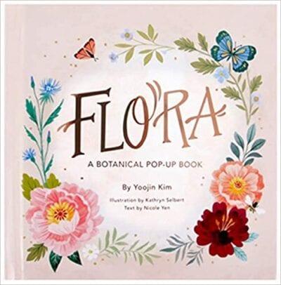 Book cover for Flora: A Botanical Pop-Up Book