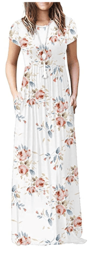 Floral maxi dress with pockets from Amazon