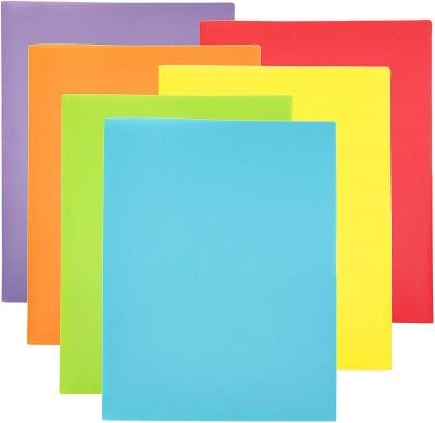 Colored paper holders.