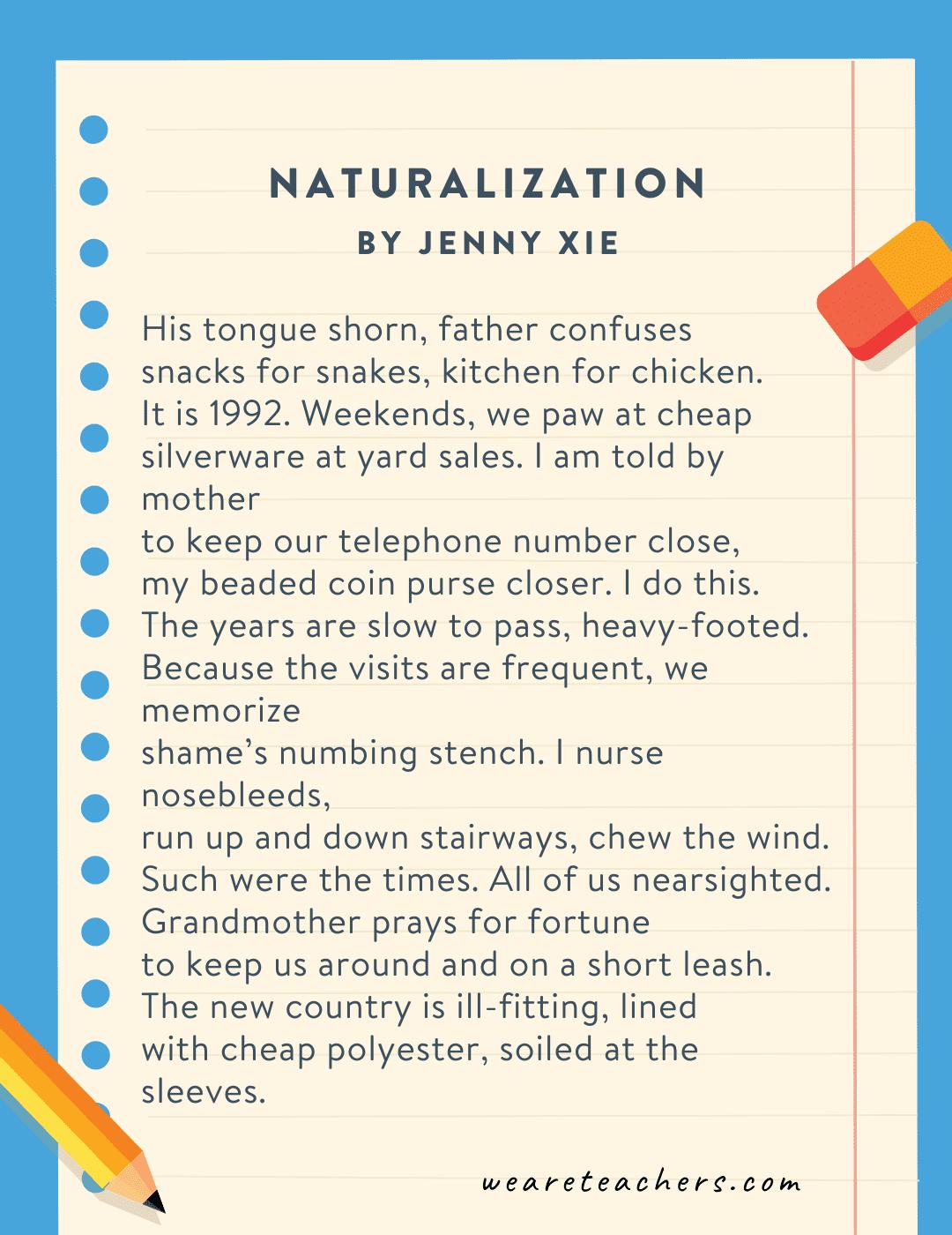 Naturalization by Jenny Xie
