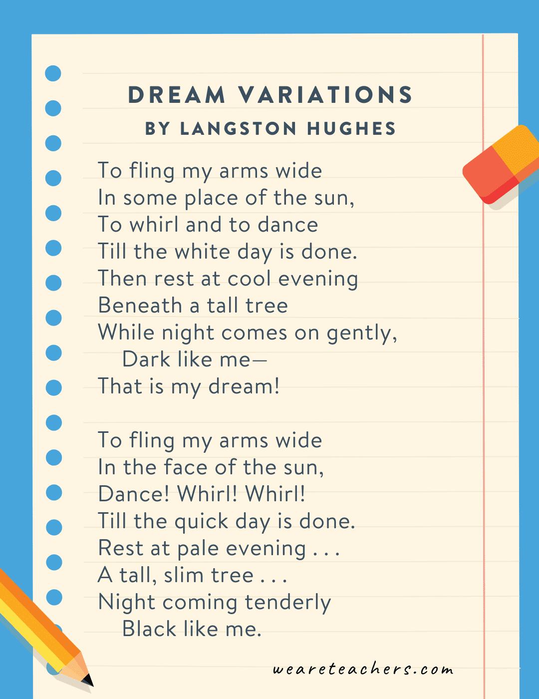 Dream Variations by Langston Hughes