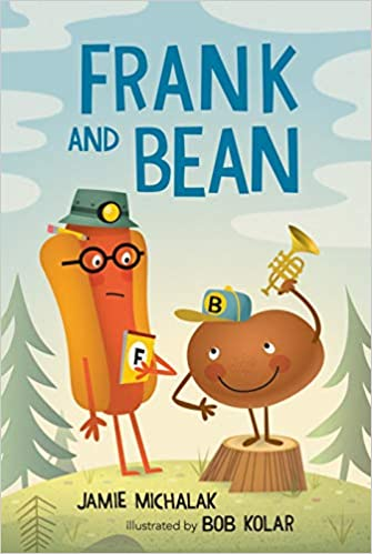 Book cover for Frank and Bean as an example of childrens books about friendship