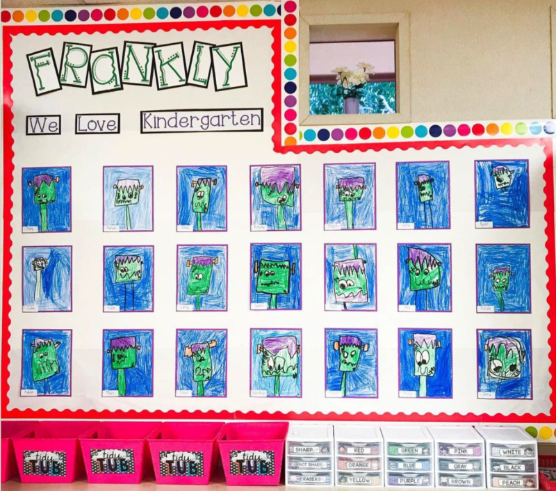 Frankly we Love Kindergarten Halloween bulletin boards