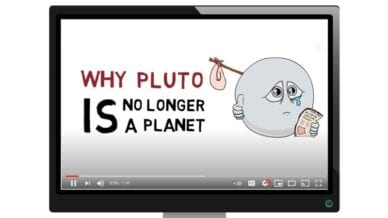 Best Free Science Videos for Kids (Video screen showing video called Why Pluto is no longer a planet)