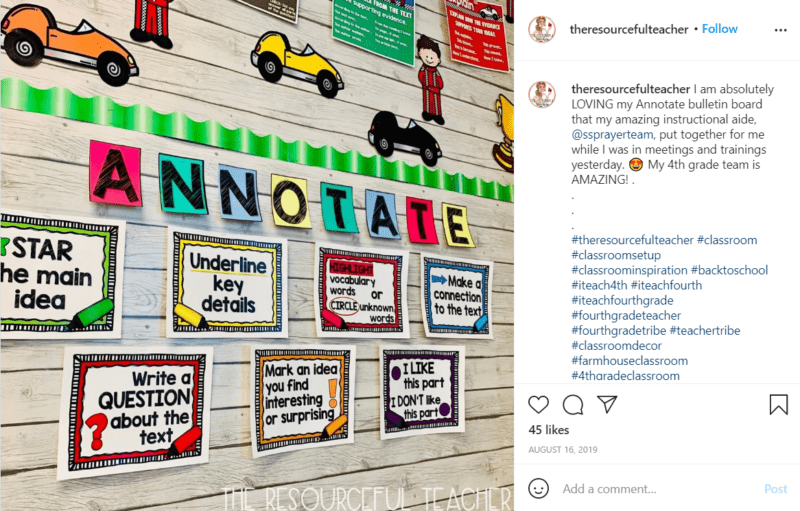 Still of fresh and fun fourth grade classroom ideas breaking it down from Instagram