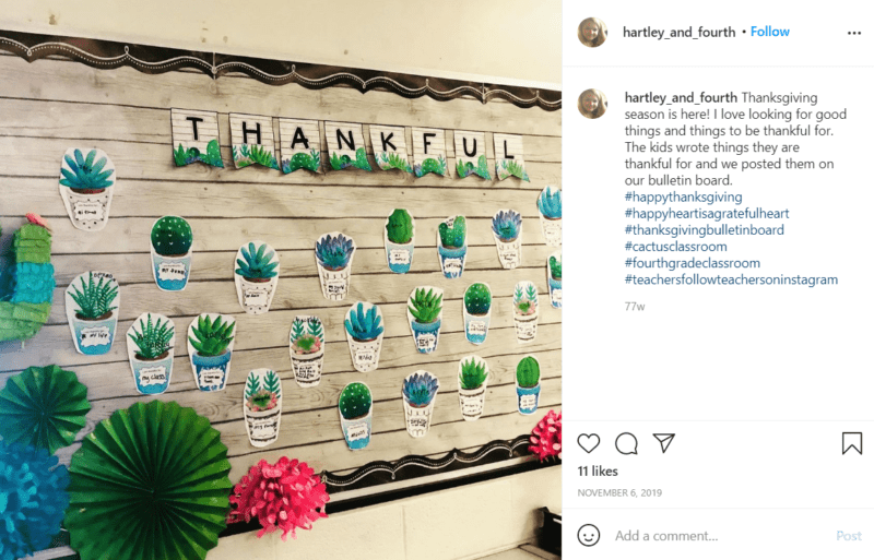 Still of fresh and fun fourth grade classroom ideas seeds of gratitude from Instagram