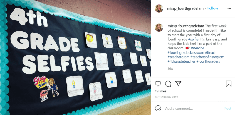 Still of fresh and fun fourth grade classroom ideas selfies from Instagram