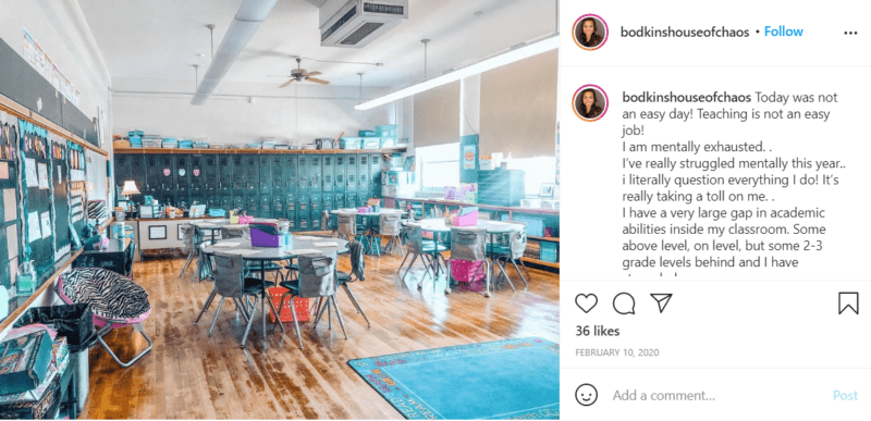 Still of fresh and fun fourth grade classroom ideas using shades of colors from Instagram