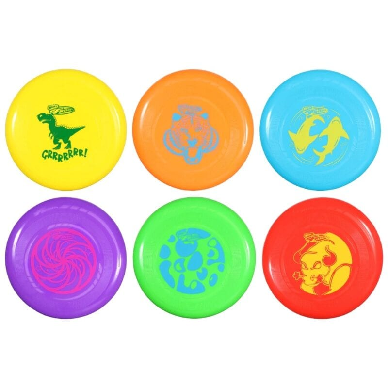 Six colorful frisbees - inexpensive gift ideas for students